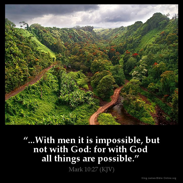 Mark 10:27 Inspirational Image