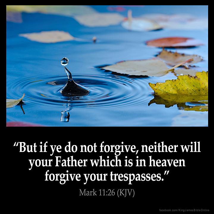 Mark 11:26 Inspirational Image