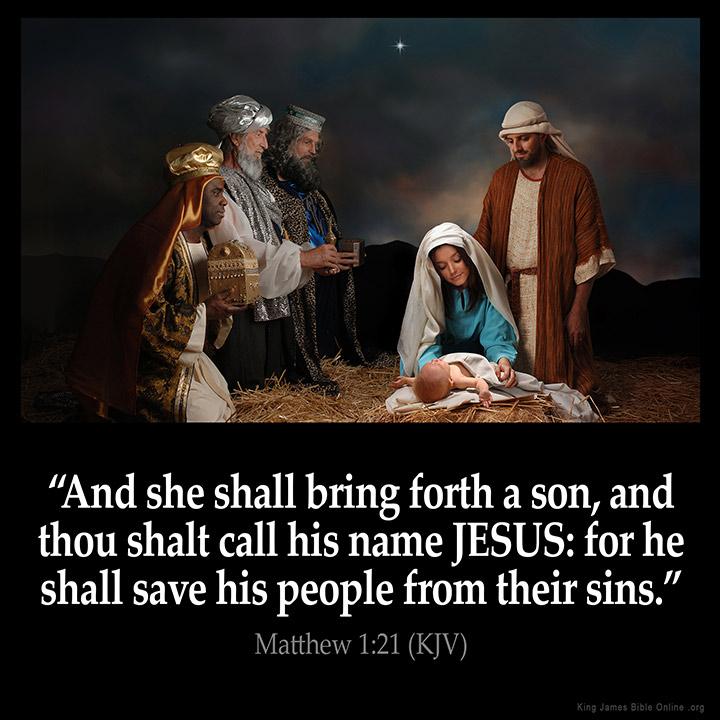 Matthew 1:21 Inspirational Image