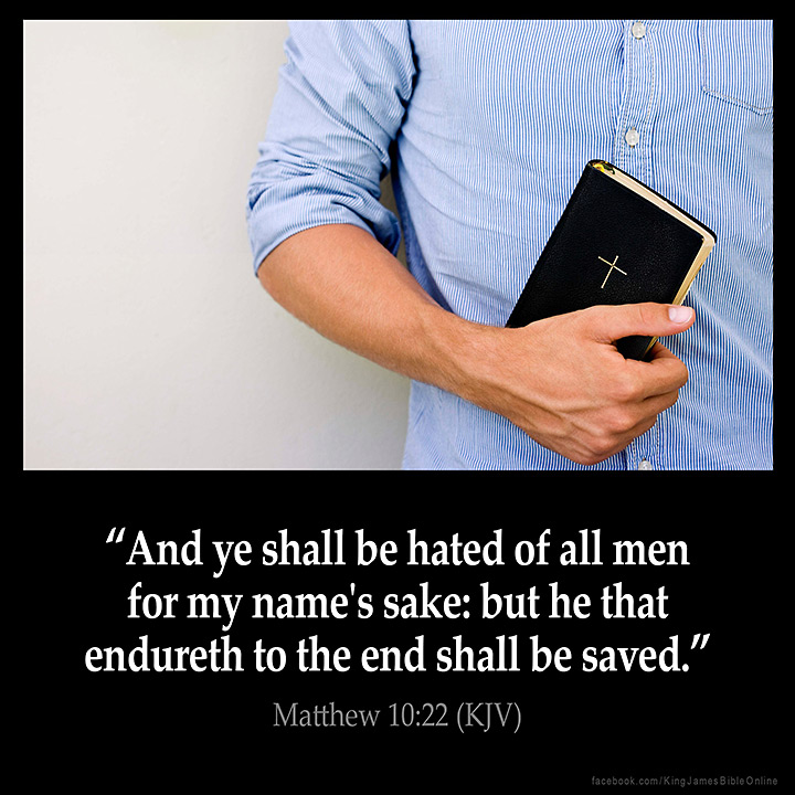 Matthew 10:22 Inspirational Image