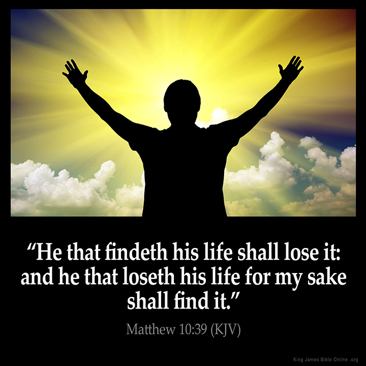 Image result for he who finds life will lose it kjv