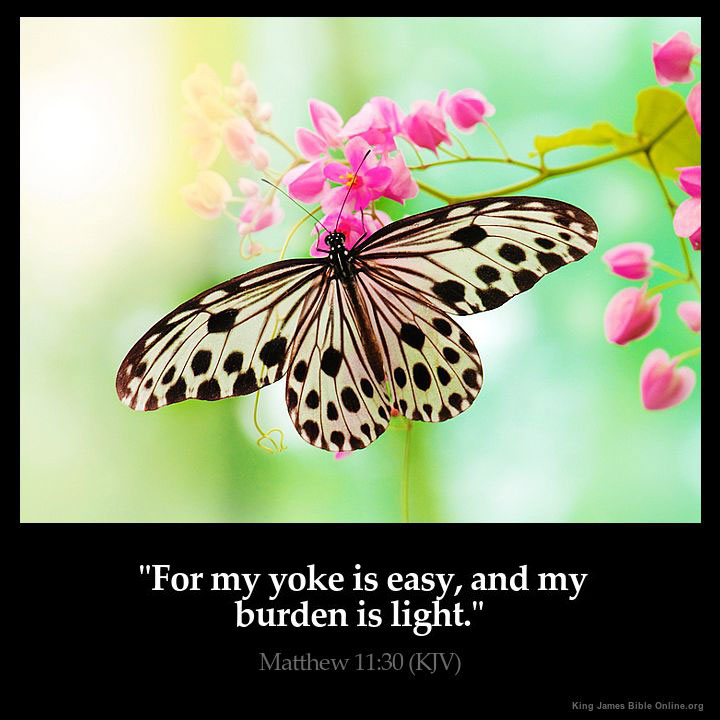 Matthew 11:30 Inspirational Image