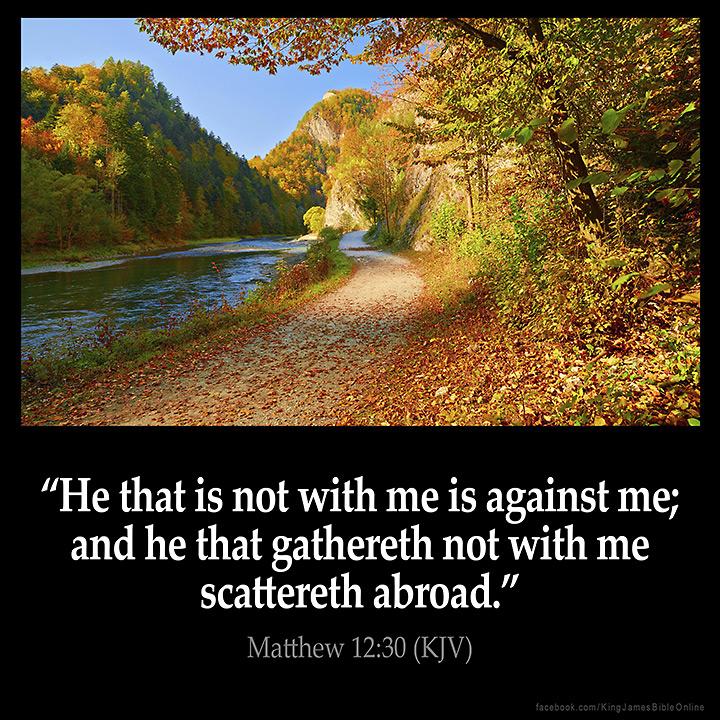 Matthew 12:30 Inspirational Image