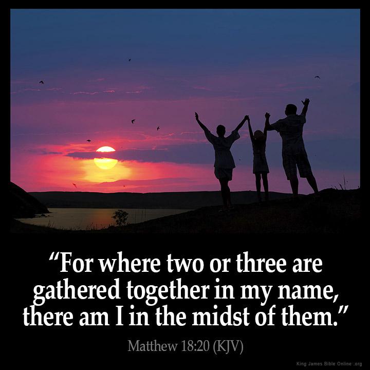 Matthew 18 20 Inspirational Image