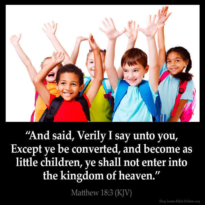 Matthew 18:3 Inspirational Image