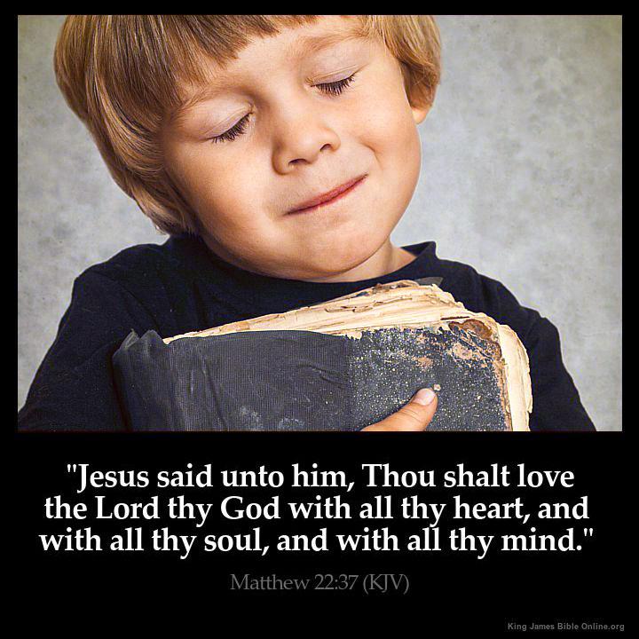 Matthew 22:37 Inspirational Image