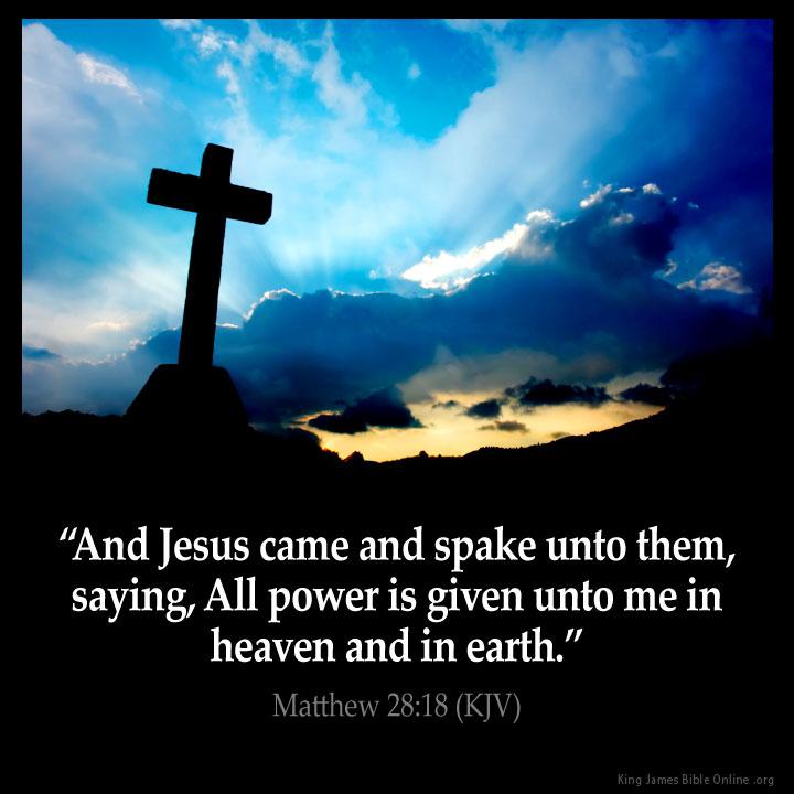 Matthew 28:18 Inspirational Image