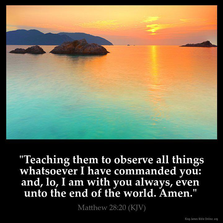 Matthew 28:20 Inspirational Image