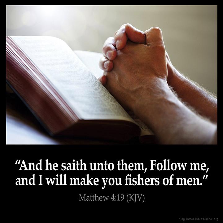 Matthew 4:19 Inspirational Image
