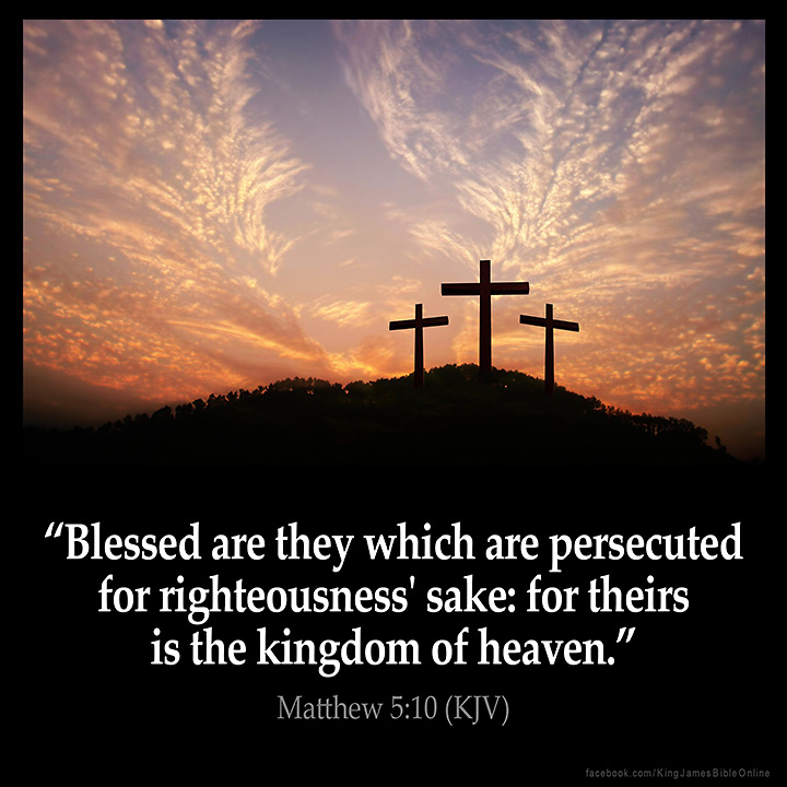 Matthew 5:10 Inspirational Image