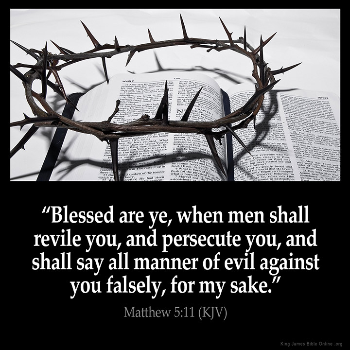 Matthew 5:11 Inspirational Image