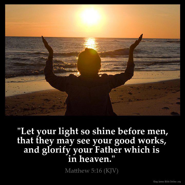 Matthew 5 16 Inspirational Image