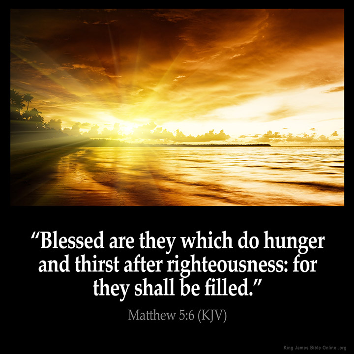 Image result for hunger and thirst after righteousness