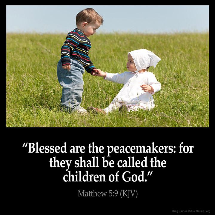 Matthew 5:9 Inspirational Image