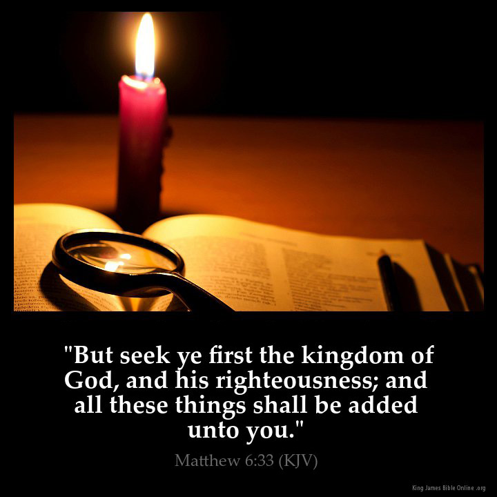 Matthew 6 33 Inspirational Image