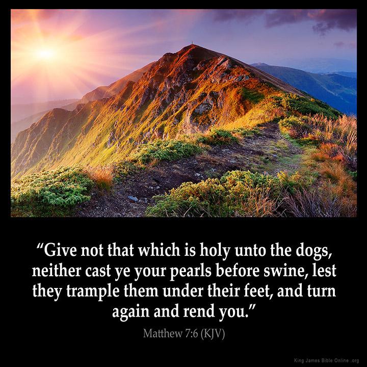 Matthew 7:6