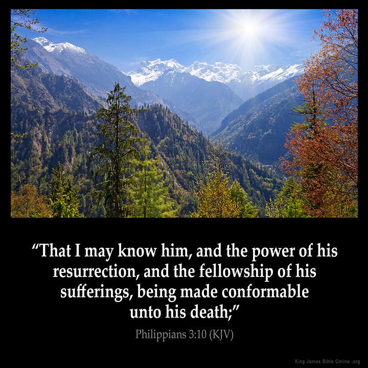 Philippians 3:10 Inspirational Image
