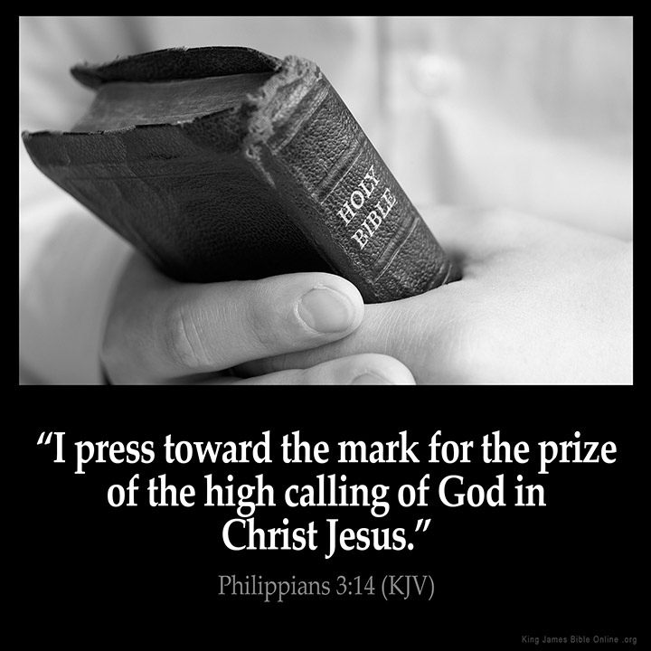 Philippians 3:14 Inspirational Image