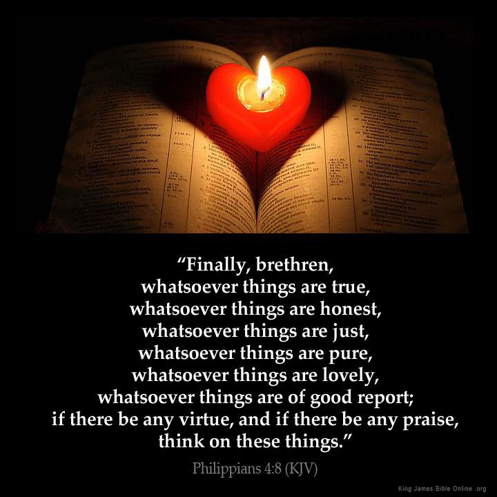 Philippians 4:8 Inspirational Image