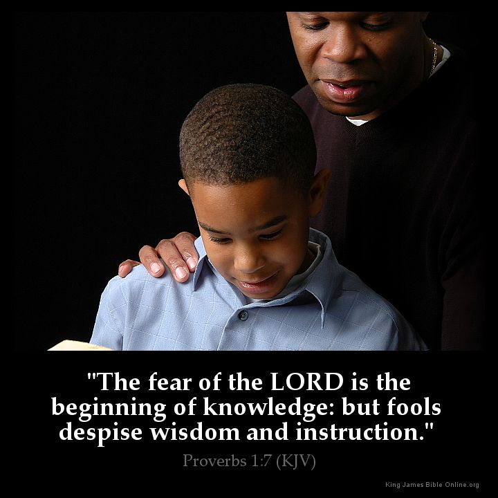 Proverbs 1:7 Inspirational Image