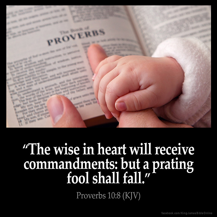 Proverbs 10:8 Inspirational Image