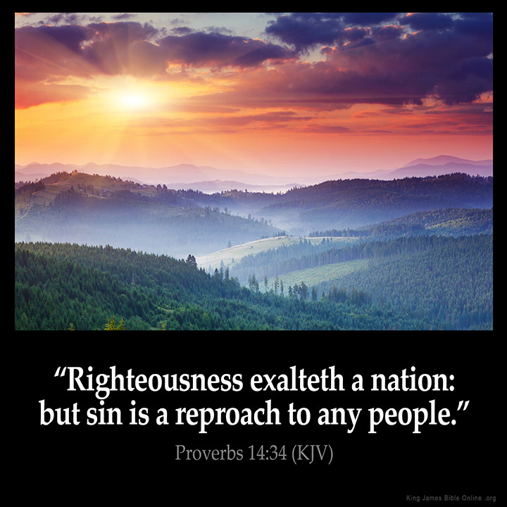proverbs 14 34 inspirational image
