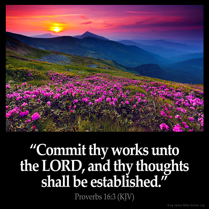 Proverbs 16:3 Inspirational Image