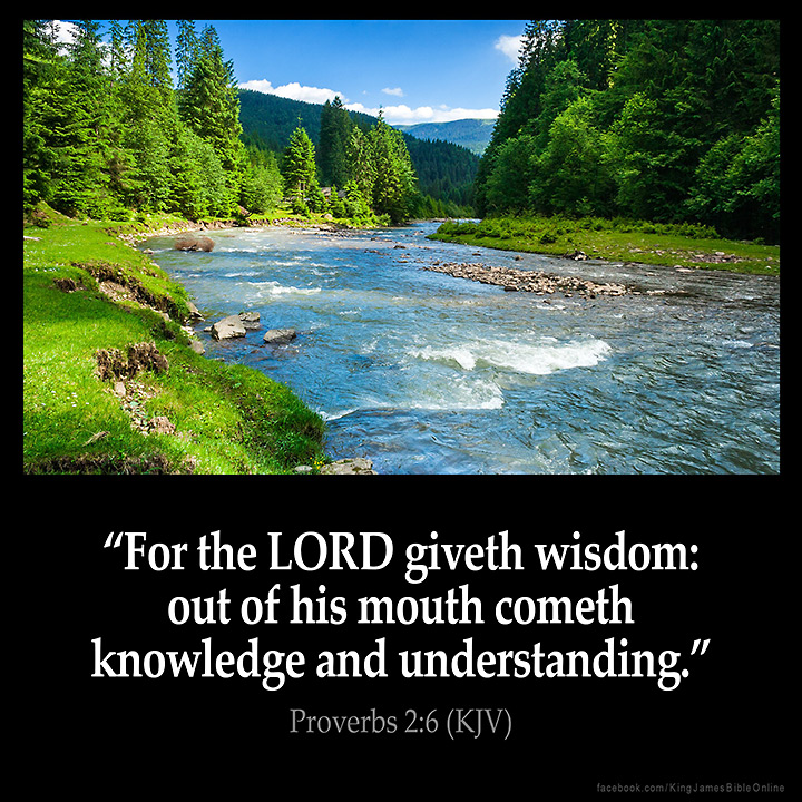 Proverbs 2:6 Inspirational Image