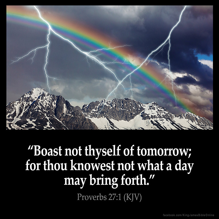 Proverbs 27 1 Inspirational Image