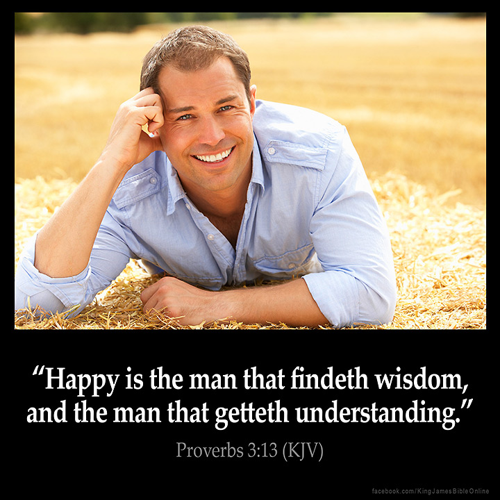 Proverbs 3:13 Inspirational Image