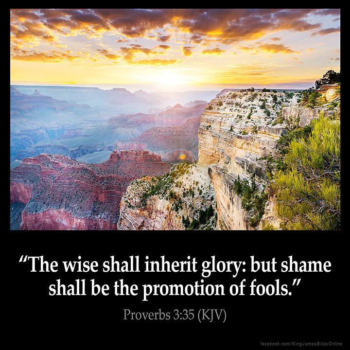 Proverbs 3:35