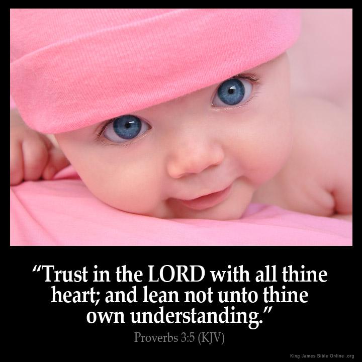 Proverbs 3 5 Inspirational ImageUplifting Bible Verses Kjv