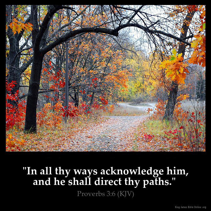 Proverbs 3:6 Inspirational Image