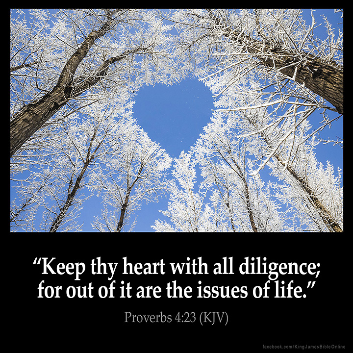 Image result for Proverbs 4:23 kjv