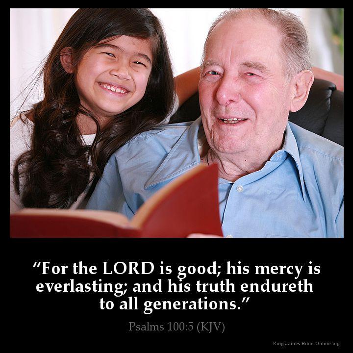 Psalms 100:5 Inspirational Image