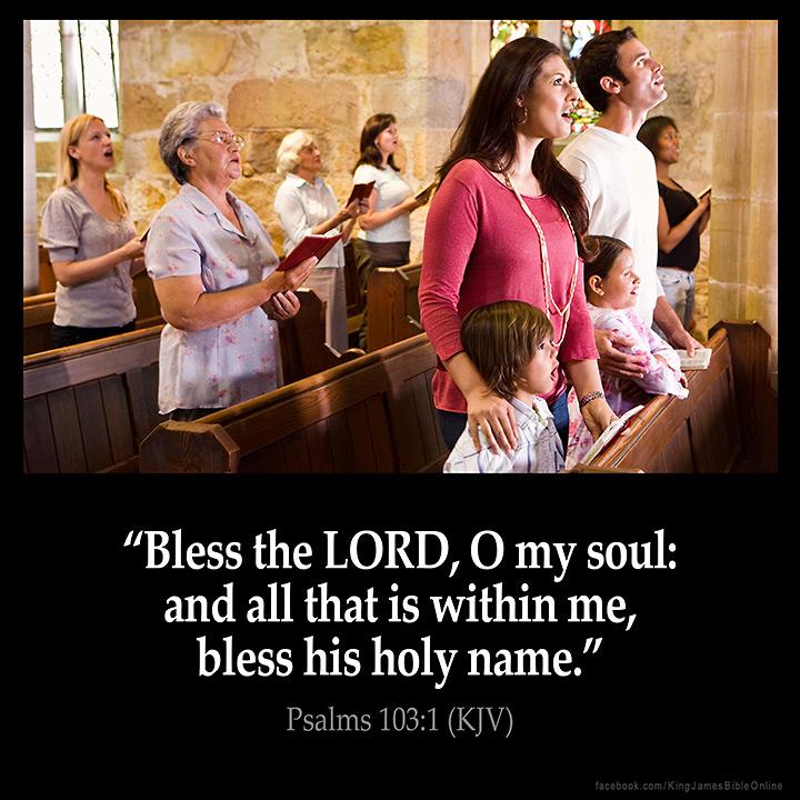 Psalms 103:1 Inspirational Image