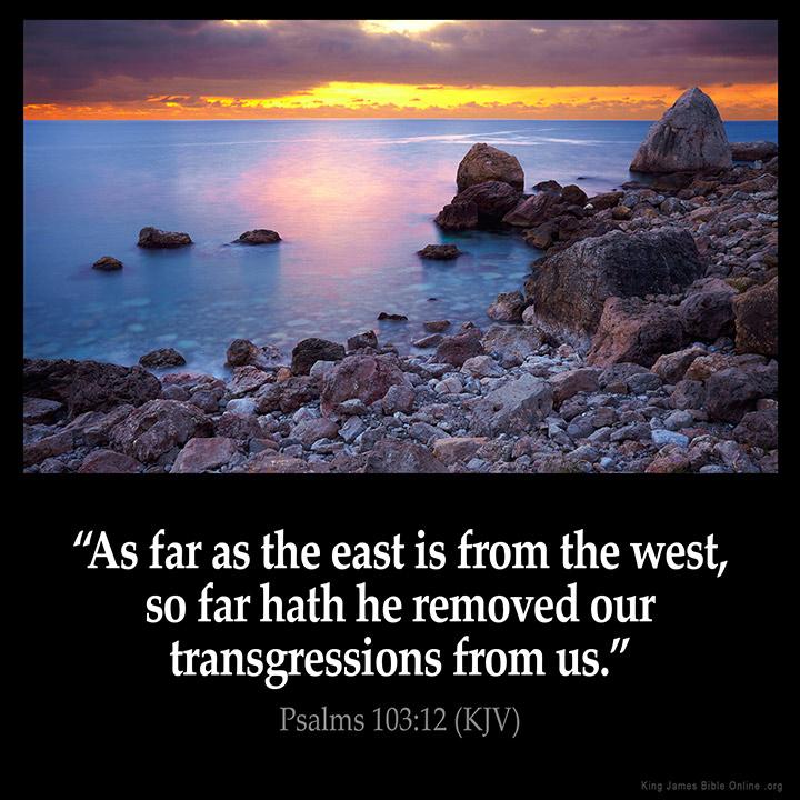 Psalms 103:12 Inspirational Image