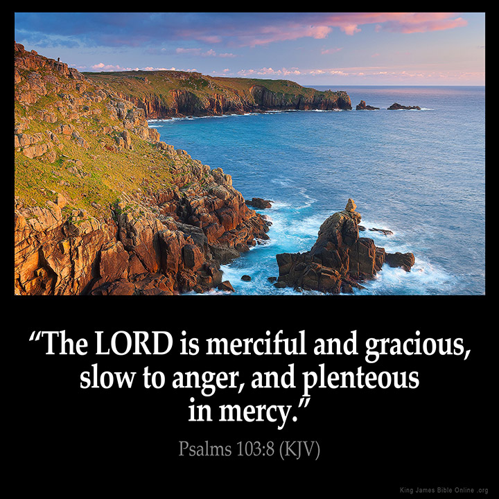 Psalms 103:8 Inspirational Image