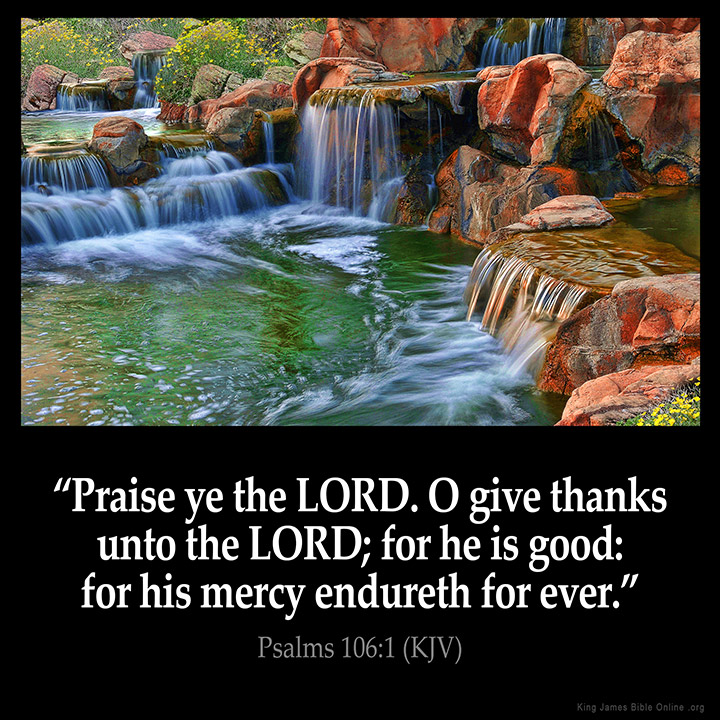 Psalms 106:1 Inspirational Image