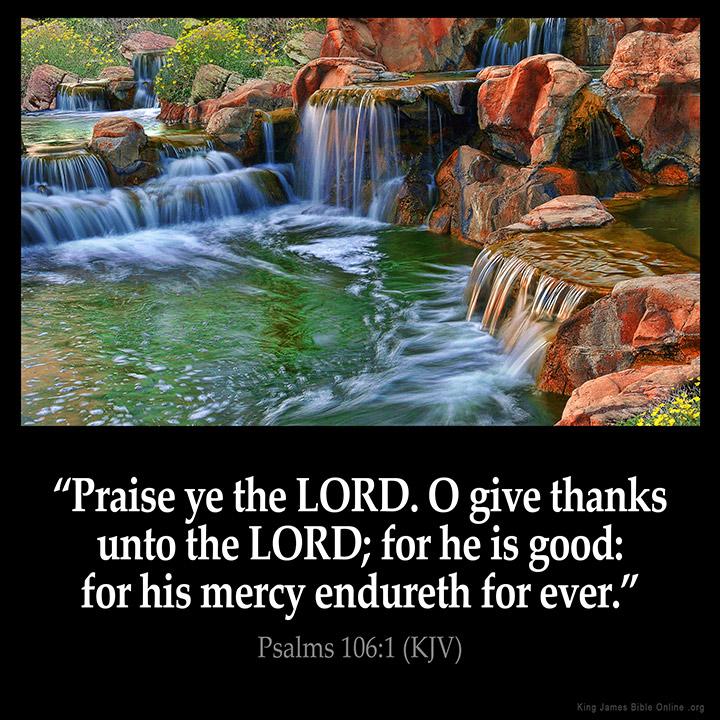 Psalms 106:1 Inspirational Image