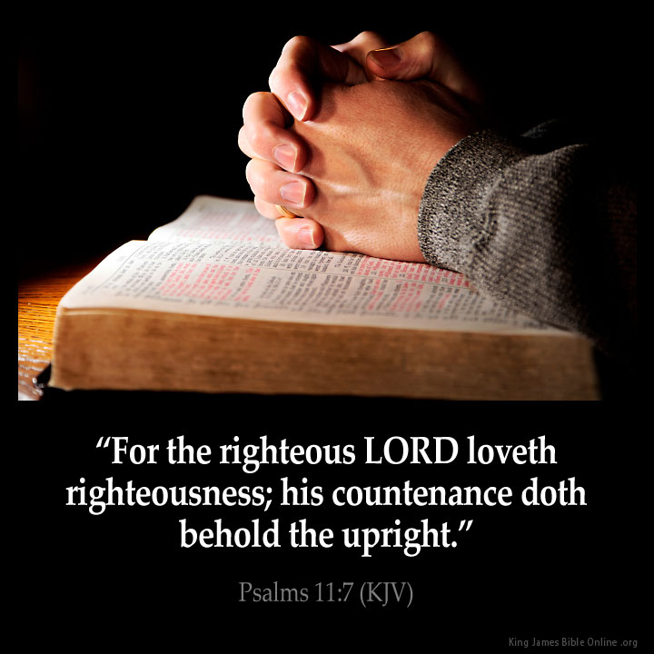Psalms 11:7 Inspirational Image