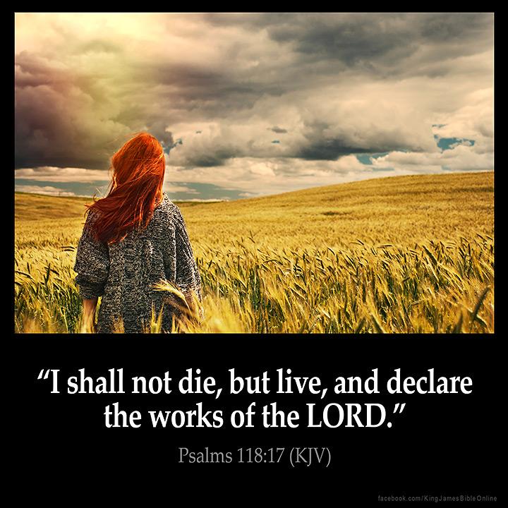 PSALMS 118:17 KJV