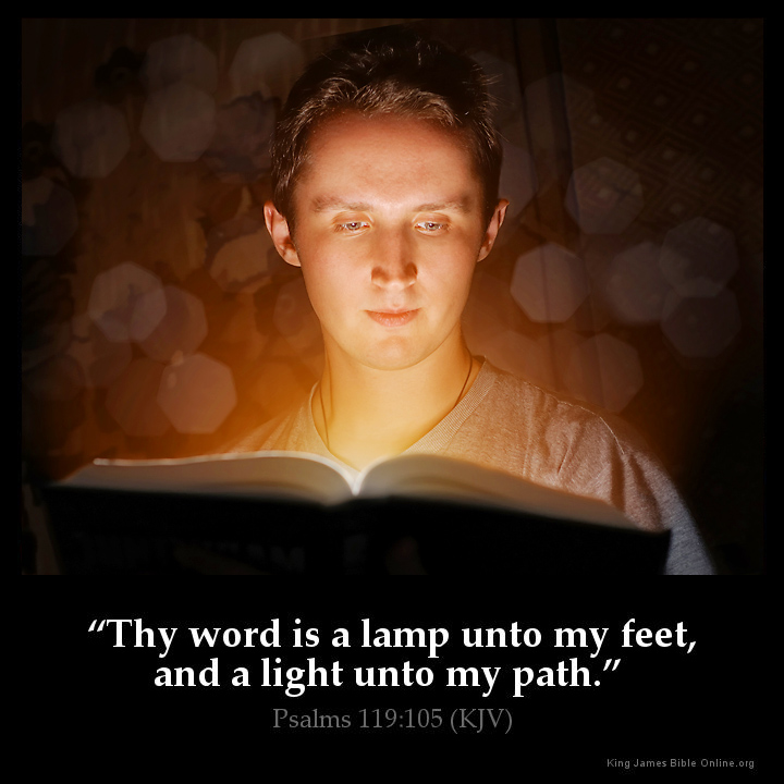 Image result for thy word is a lamp unto my feet kjv