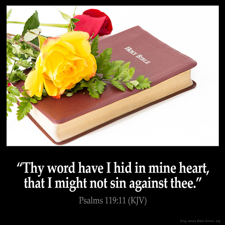 Psalms 119:11 Inspirational Image
