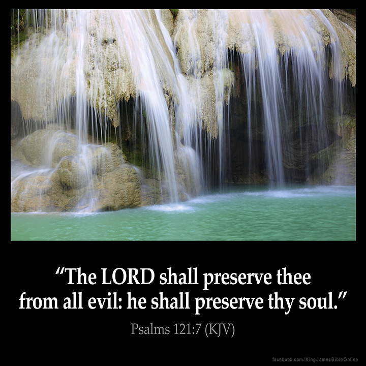 Psalms 121:7 Inspirational Image