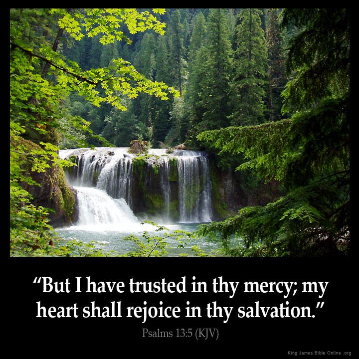psalms 13 5 inspirational image