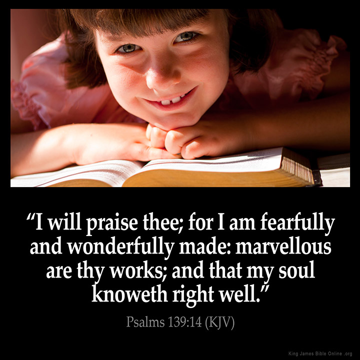 Psalms 139:14 Inspirational Image