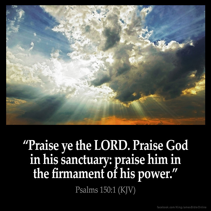 Psalms 150:1 Inspirational Image