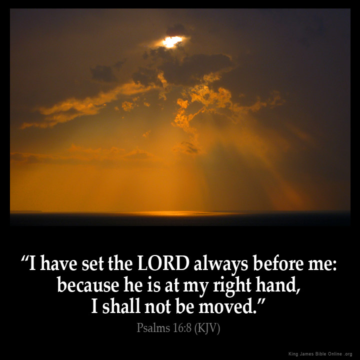 Psalms 16 8 Inspirational Image