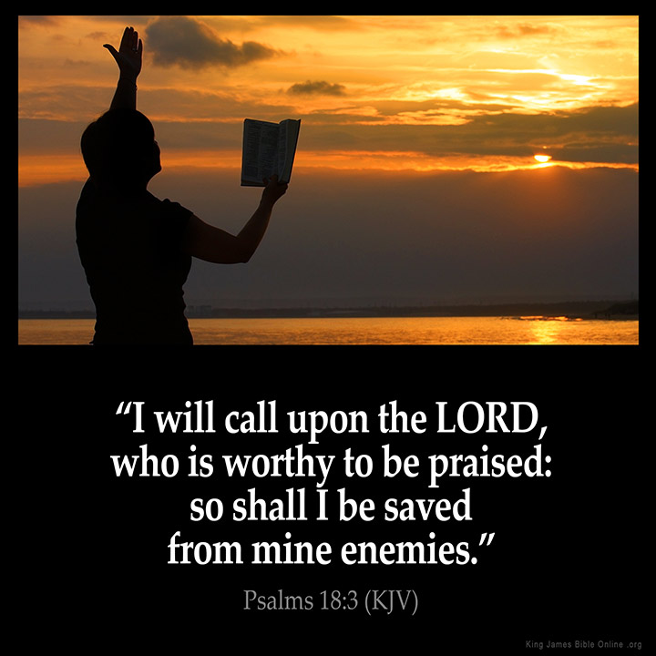 Psalms 18:3 Inspirational Image